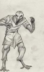 Sketch--Crow Man