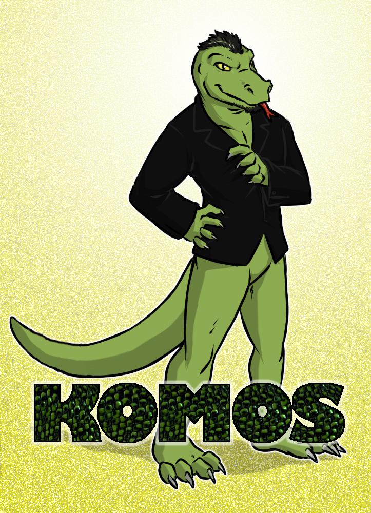 Komos conbadge portrait