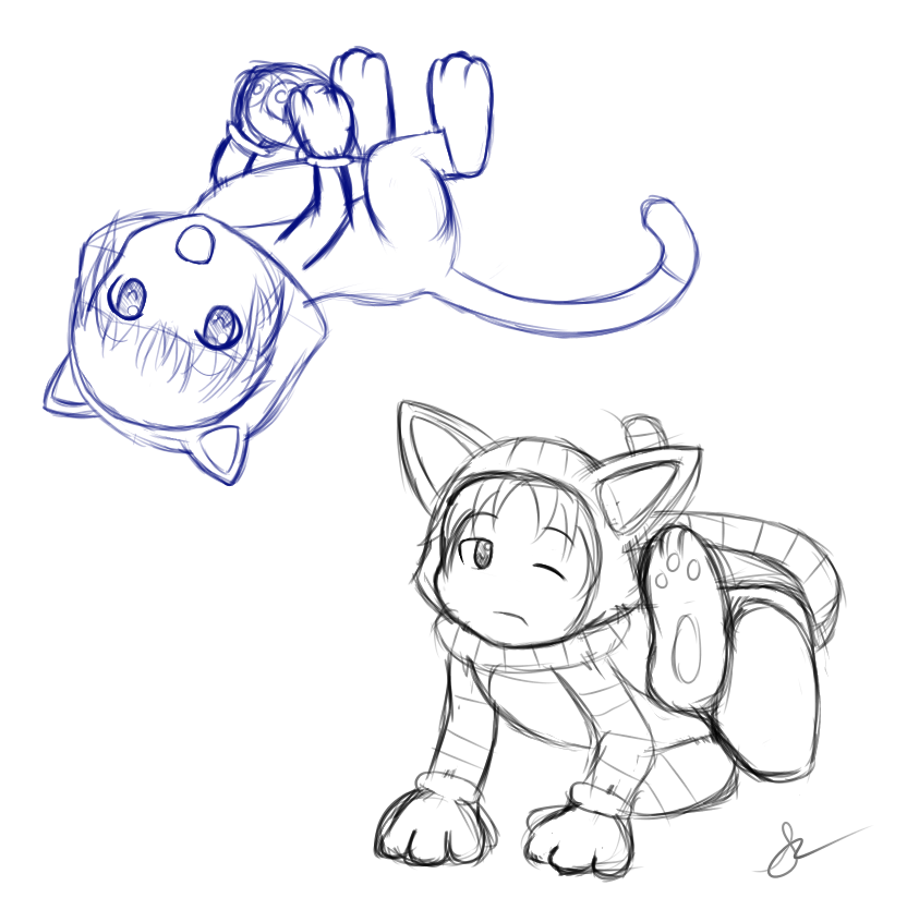 Most recent image: WIP - Cat Arle and Schezo