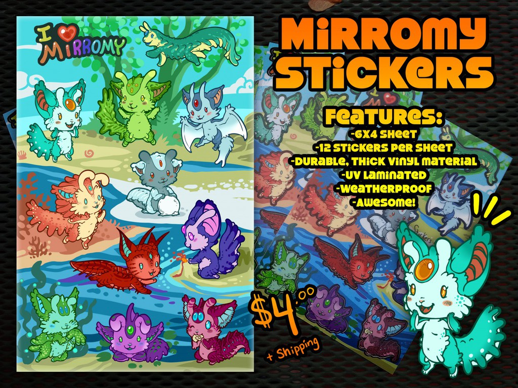 Mirromy Stickers IN!