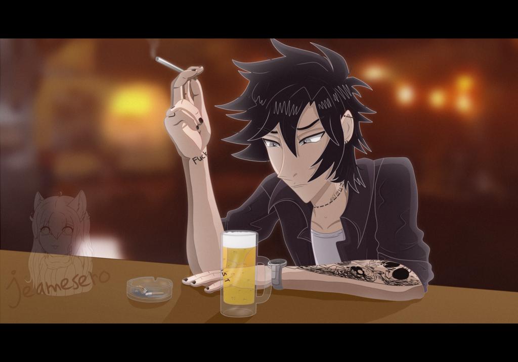 Alone at the pub - [1000 watcher art raffle reward]