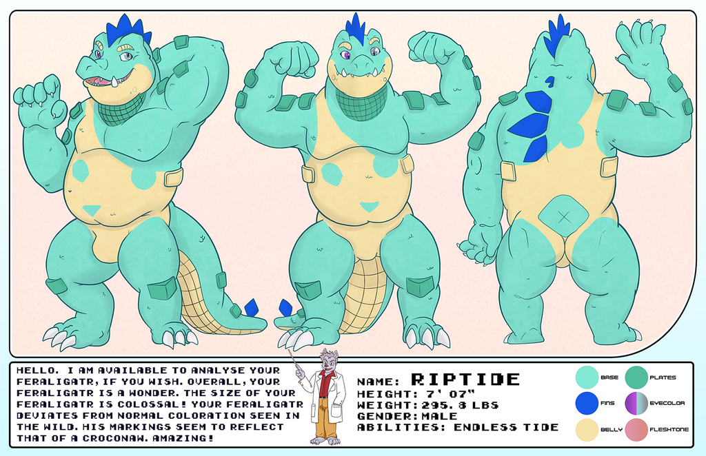 Most recent image: Riptide Reference Sheet