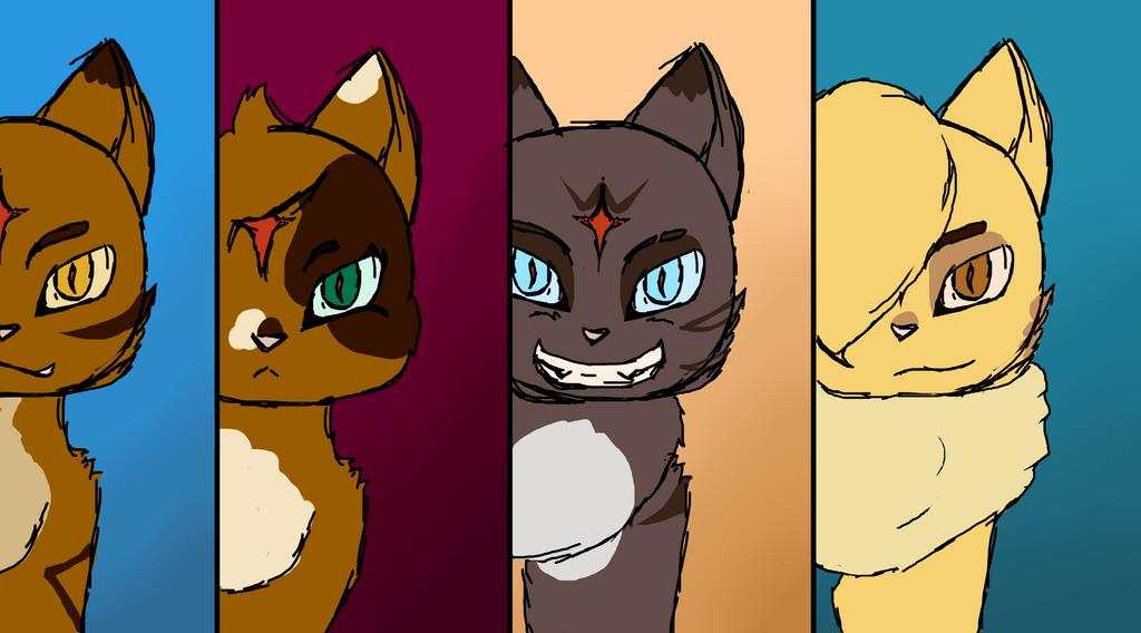 Evil Tiger family AU sketch