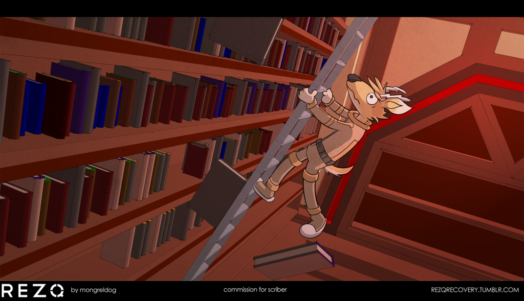 commission: Library Times, with Scriber