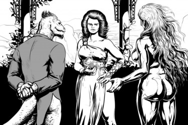 Komos, Circe and Goldie by Cureboltium