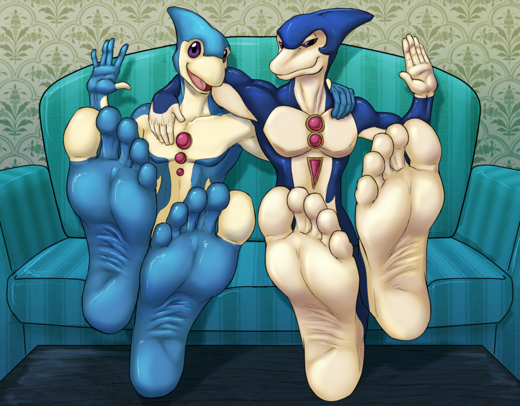 Sexy dolphins with sexier feet