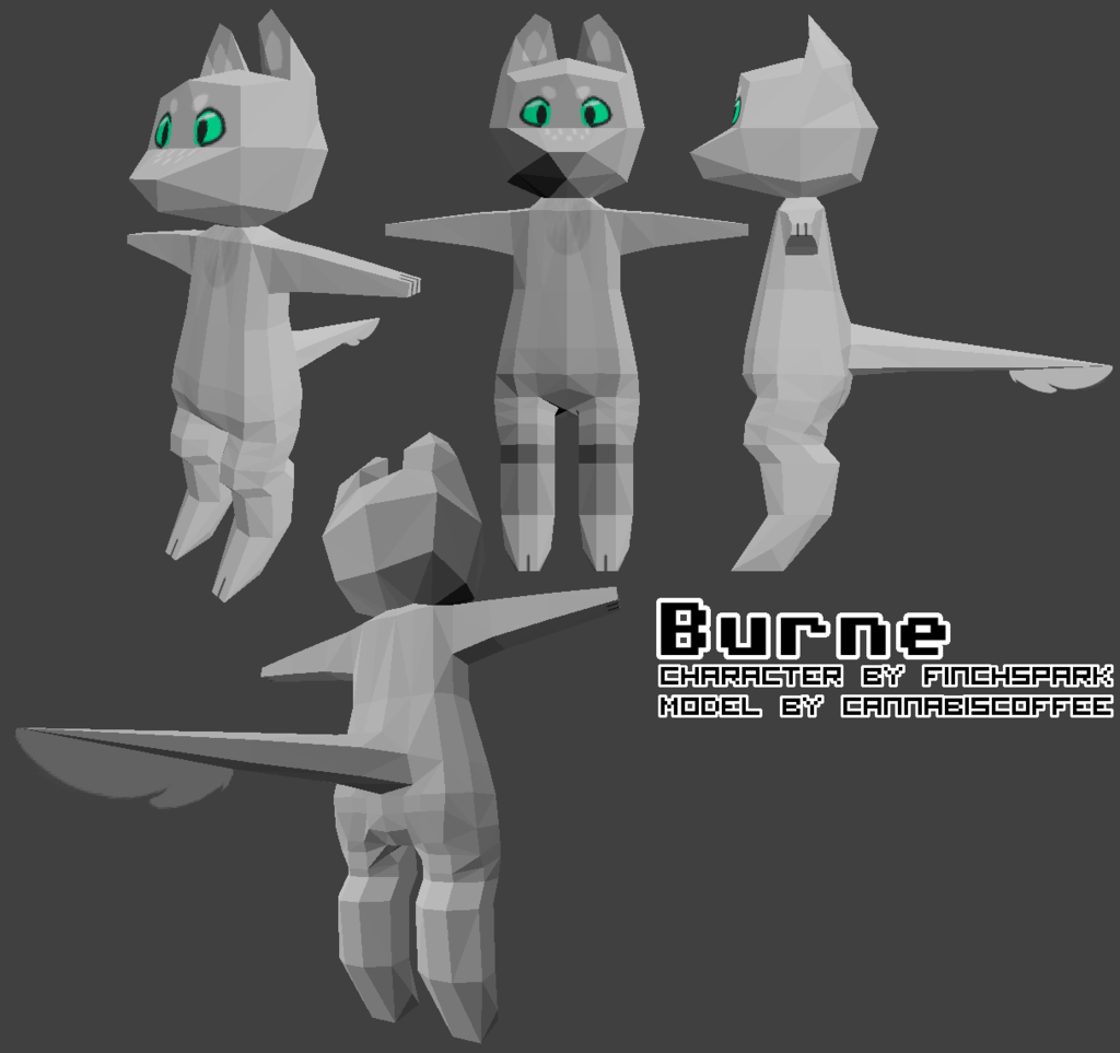 Burne - Low-Poly Model