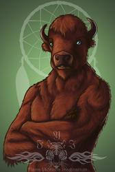 Fafnear Bust (Buffalo)