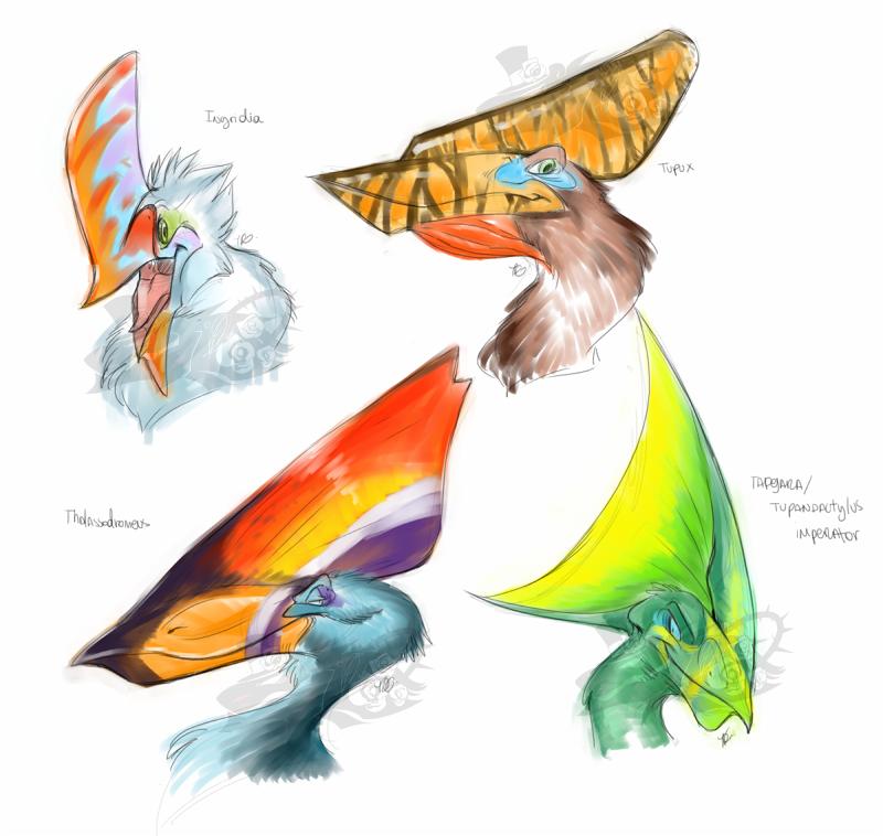 Pterosaur headshots