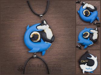 Commission - couple pendants - Suzo & Terry