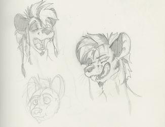 Hyena Doodles