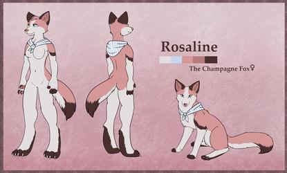Rosaline the Champagne Fox Design
