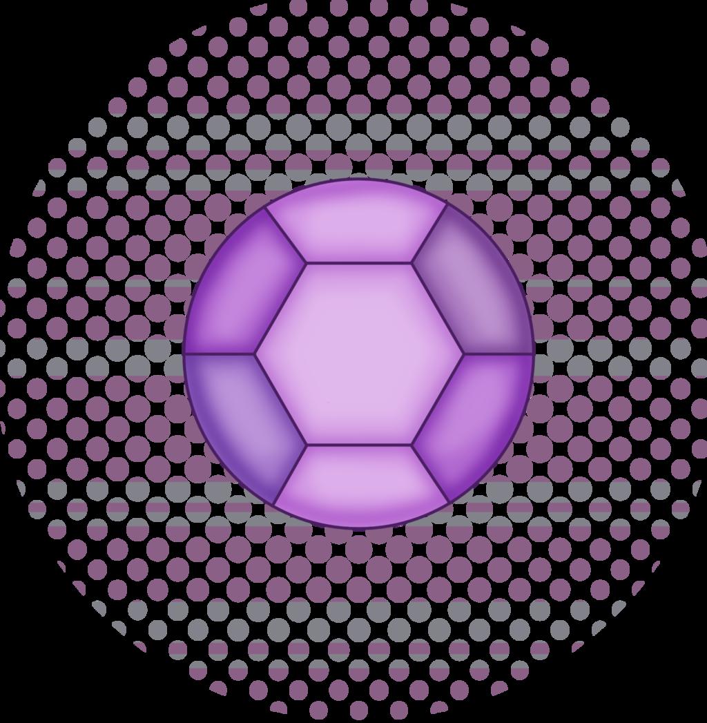 Purple Striped Beta Kindergarten Monster Gem