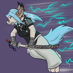[Commission] - PsychadelicHues - Lightning Warrior