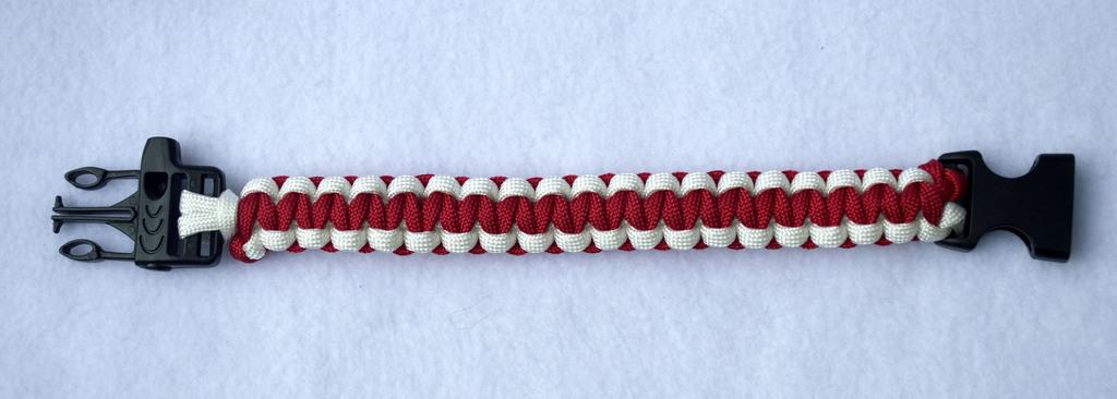 For Sale Red and White paracord bracelet