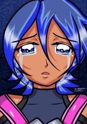 Kingdom Hearts - Aqua woke up after nightmare.