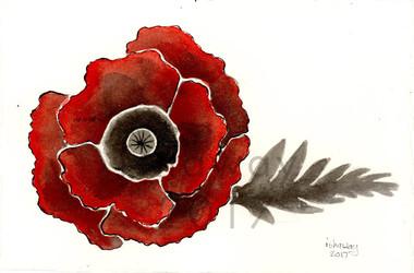Inktober - Poppy