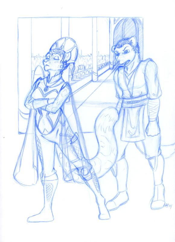Snooty Ambassador - Sketch