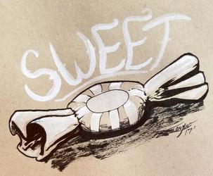 Inktober day 8. Something Sweet