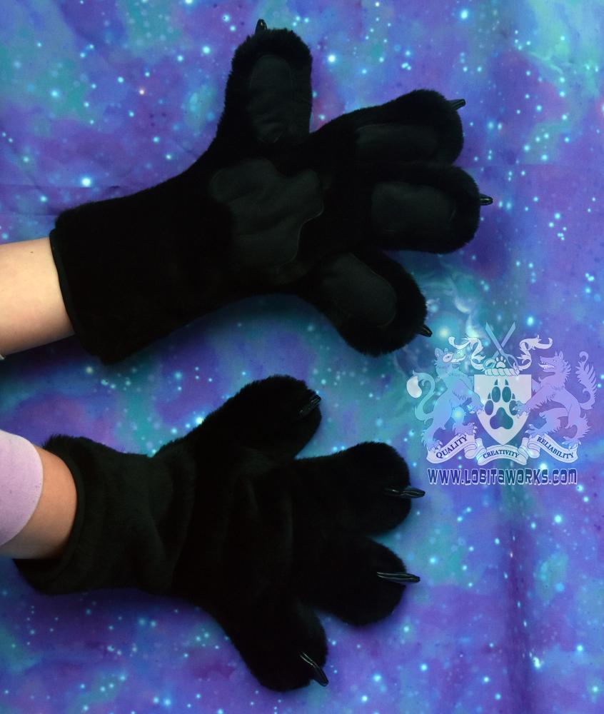 Black Fursuit Hands