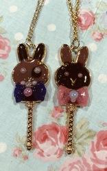 Resin Charms: Chocolate Bunnies