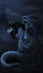 [Commission by Achelladuega]..A not so anthro dark faggon..