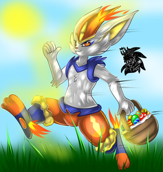 Easter Cinderace +Full Shaded Commission+