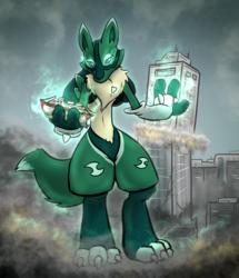 Lucario + Renamon = Emerald