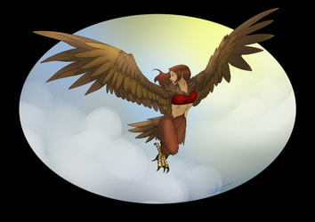 Nathan Harpy flying