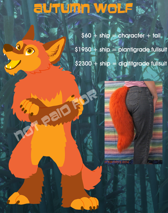 Autumn Wolf Design + Tail for Sale