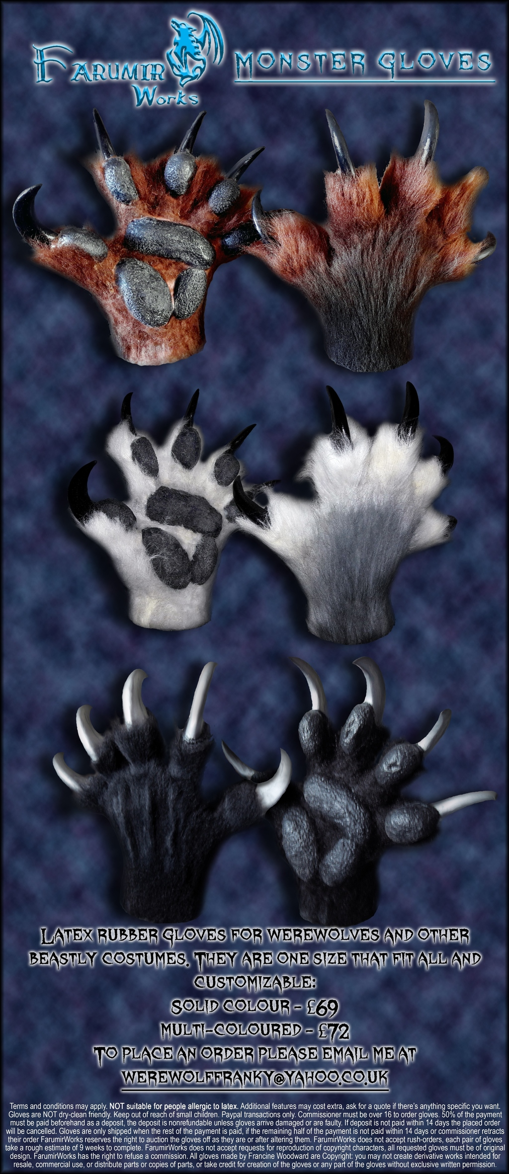FarumirWorks - Monster Paws commissions prices
