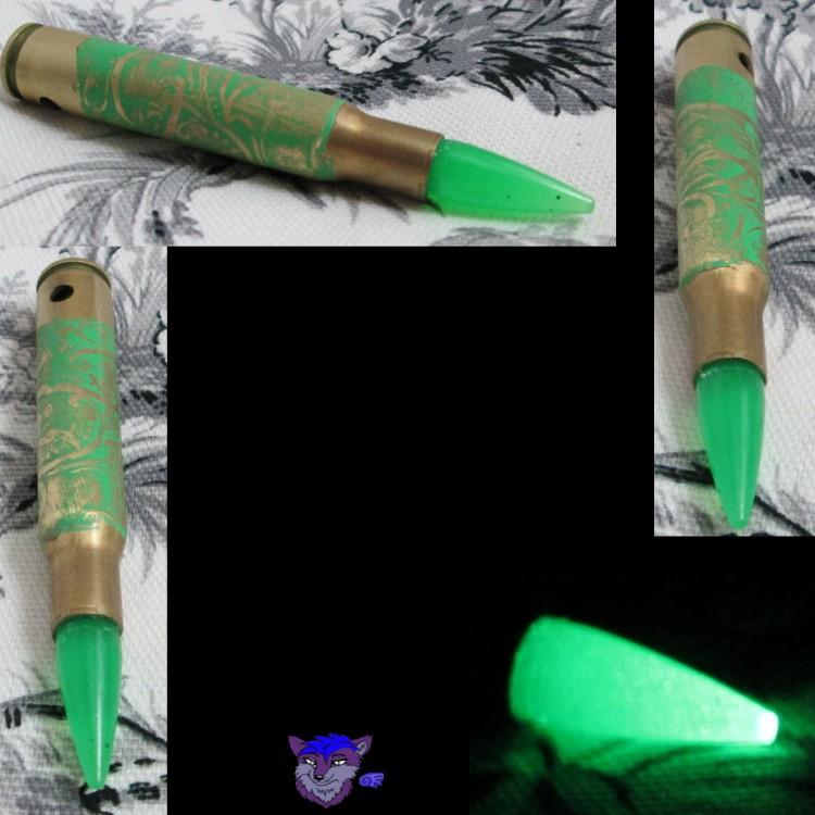 Green Flourish 30-06 w/Glowing Green Bullet
