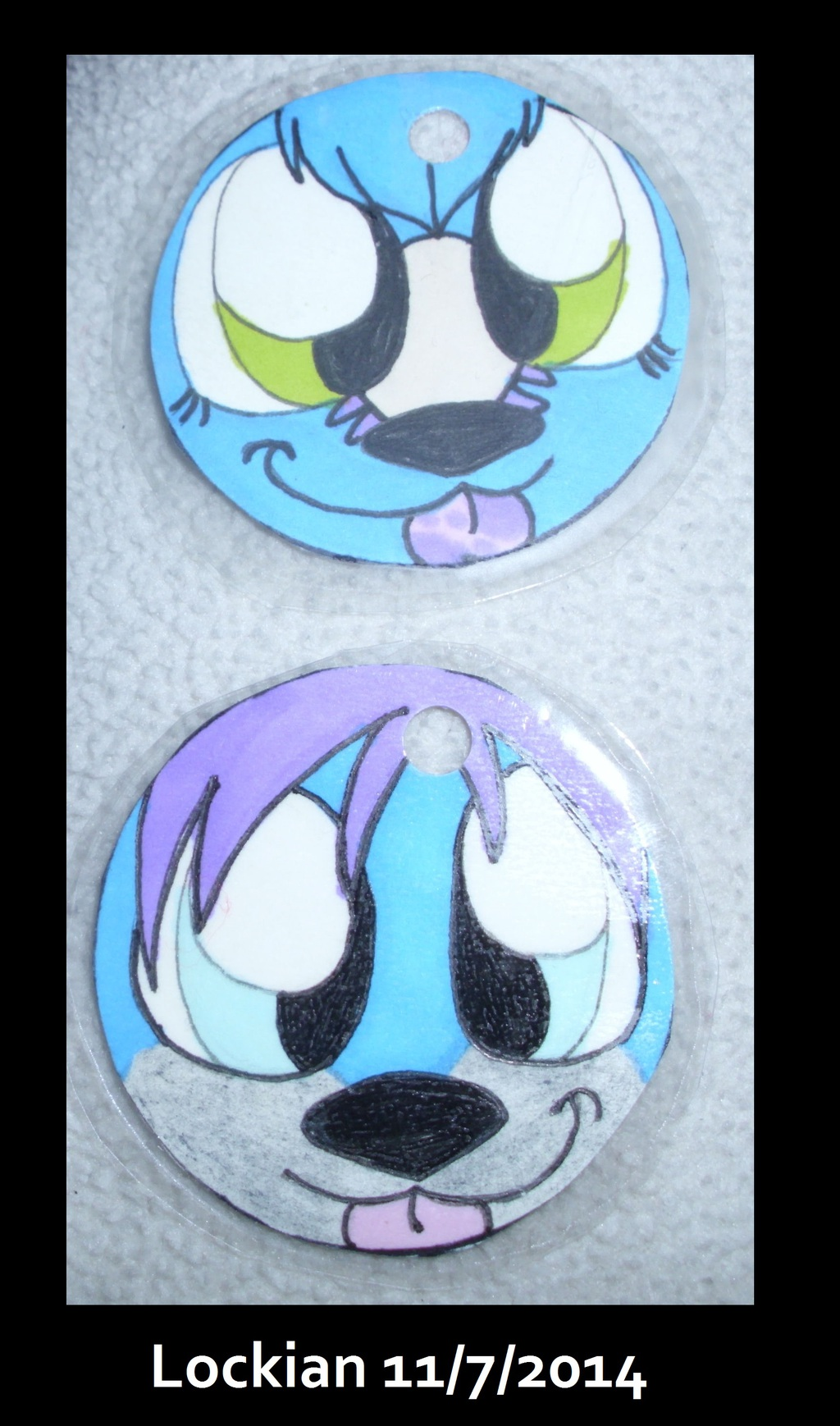 Promarker collar tags for Tarquin and Blizzard