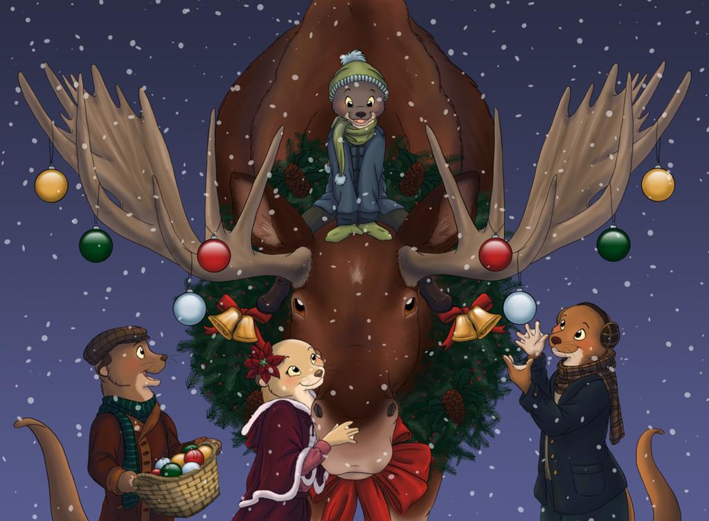 WIshing You And Otterly Wonderful Merry Christmoose