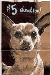 Paper Bag Pup: Chihuahua