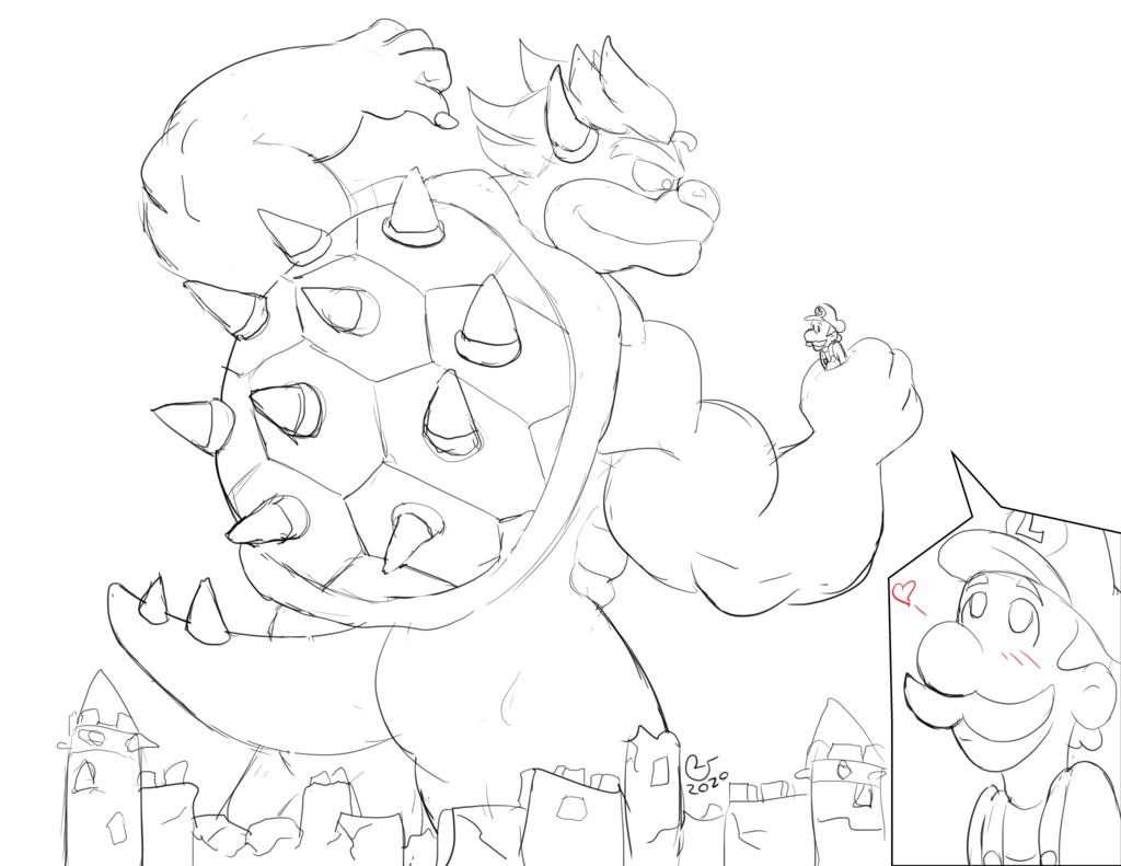 Sketchmission: Big Bowser, Tiny Luigi