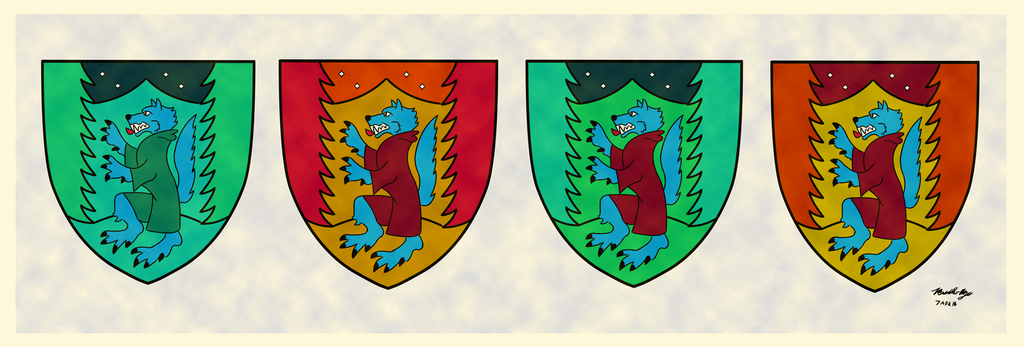 Most recent image: Blue Wolf Crests