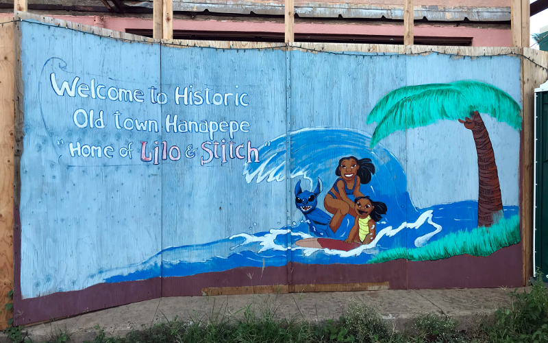 Hanapepe Lilo and Stitch mural