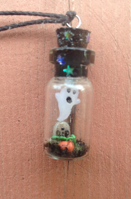 Graveyard Bottle Charm Necklace