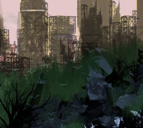 Speedpaint: Ruined City