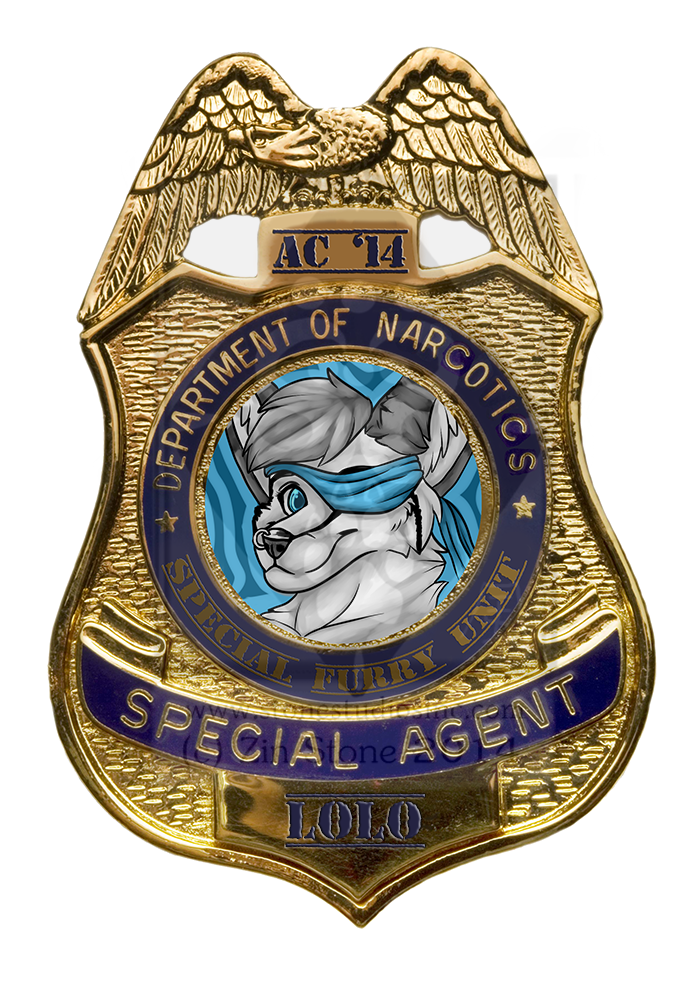 Lolo Fennec Agent Badge Commission