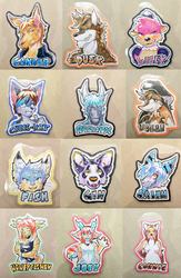 Midwest Furfest 2018 Badge Commissions