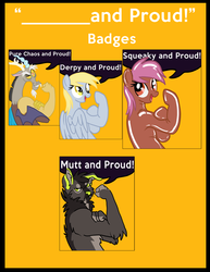 """TFF Badge Preorders PICK UP ONLY """"______and Proud"""""""