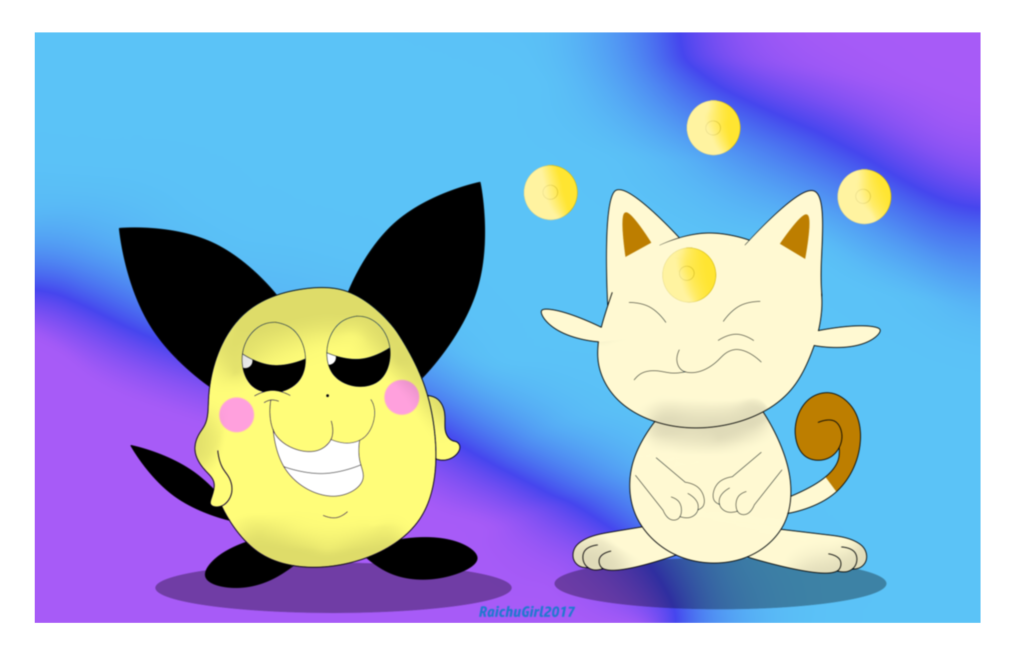 Most recent image: Beta Pichu and Meowsy