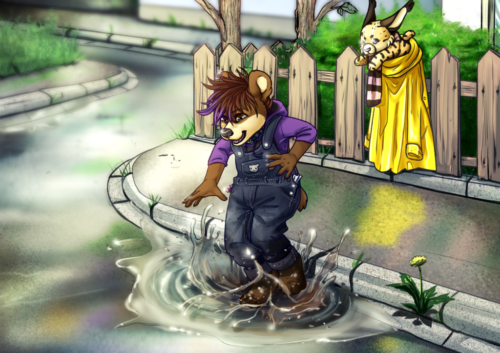 *splash, splash* Jumping into all the puddles!