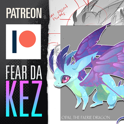 PATREON   Opal the Fearie Dragon   FDK