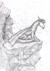 Dragon at his cave.