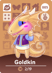 Animal Crossing Amiibo Card: Goldkin