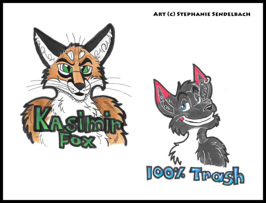 Kasimir Fox and 100% Trash Badges