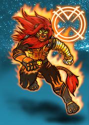 Inferno Sabercat - Orange Lantern - By Furnygma